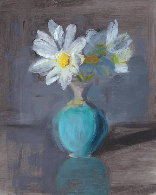 Daisy Art Print featuring the painting Rcnpaintings.com by Chris N Rohrbach