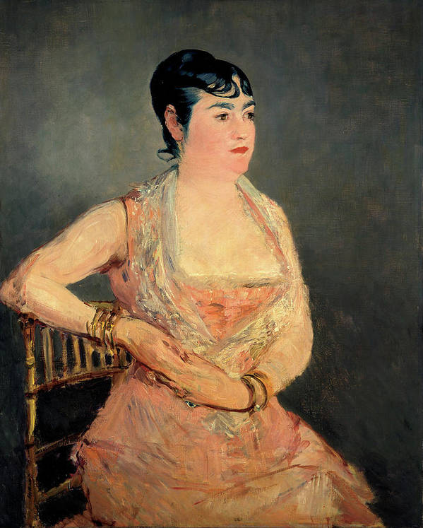 Edouard Manet Art Print featuring the painting Lady In Pink by Edouard Manet