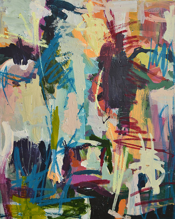 Art Art Print featuring the painting Modern Abstract Cow Painting by Robert Joyner