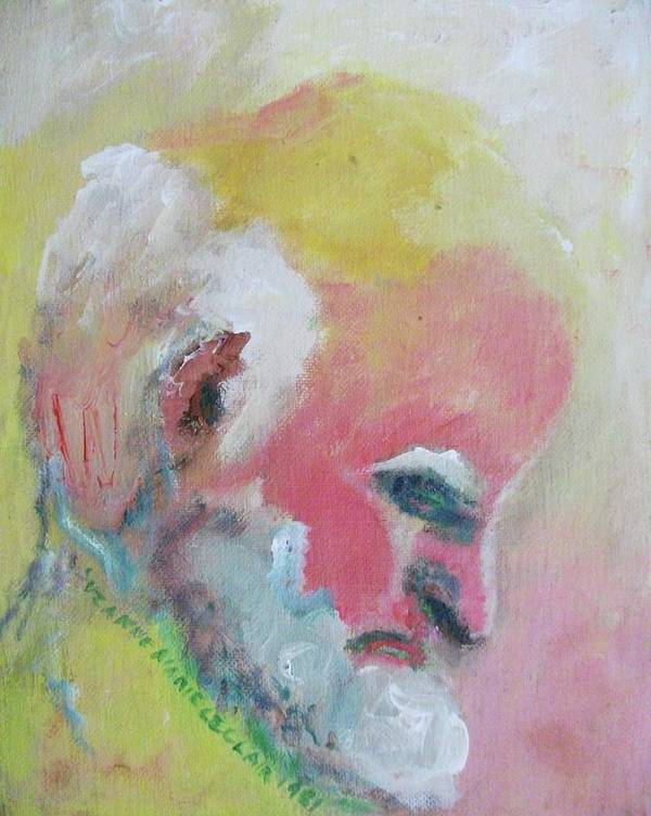 Old Man Art Print featuring the painting Untitled by Suzanne Marie Leclair