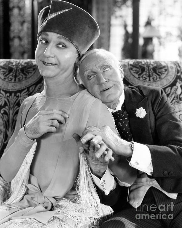 -couples- Art Print featuring the photograph Silent Film Still: Couples by Granger