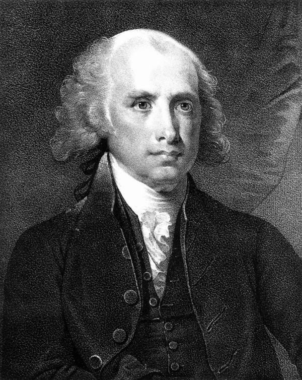 18th Century Print featuring the photograph James Madison (1751-1836) by Granger