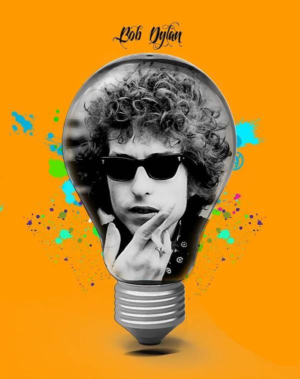 Bob Dylan Art Print featuring the mixed media Bob Dylan Collection by Marvin Blaine