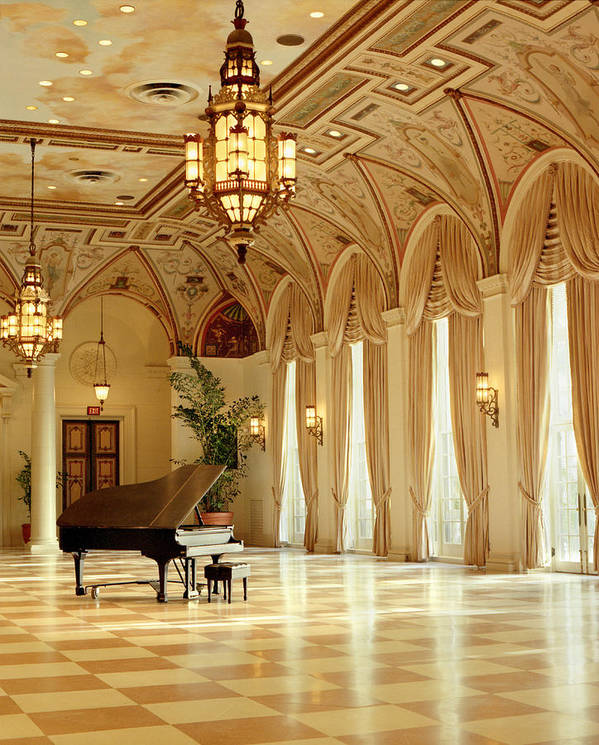 Ballroom Art Print featuring the photograph A Grand Piano by Rich Franco