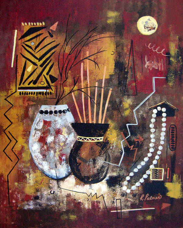 Abstract Art Print featuring the painting African Perspective by Ruth Palmer