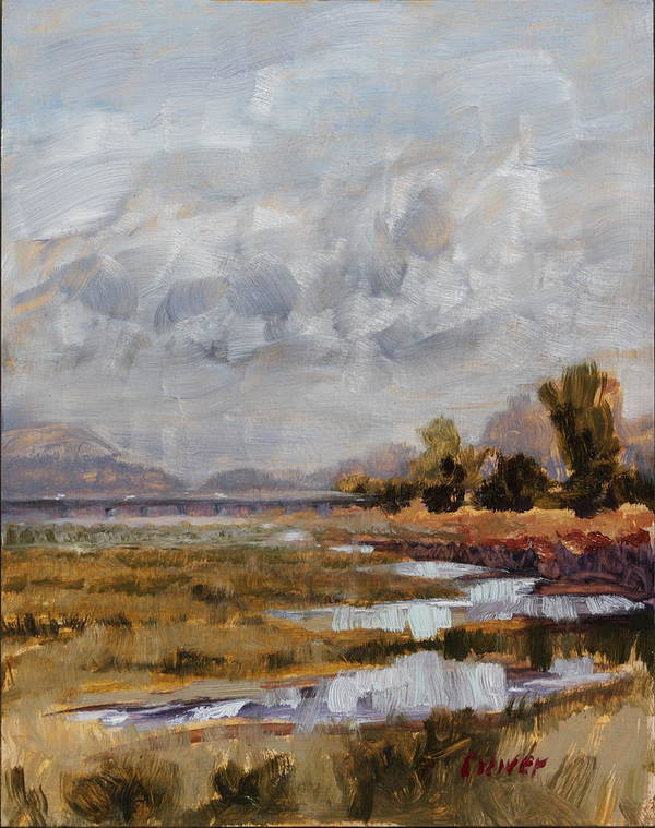 Plein Air Art Print featuring the painting After The Rains by Ronald Lee Oliver
