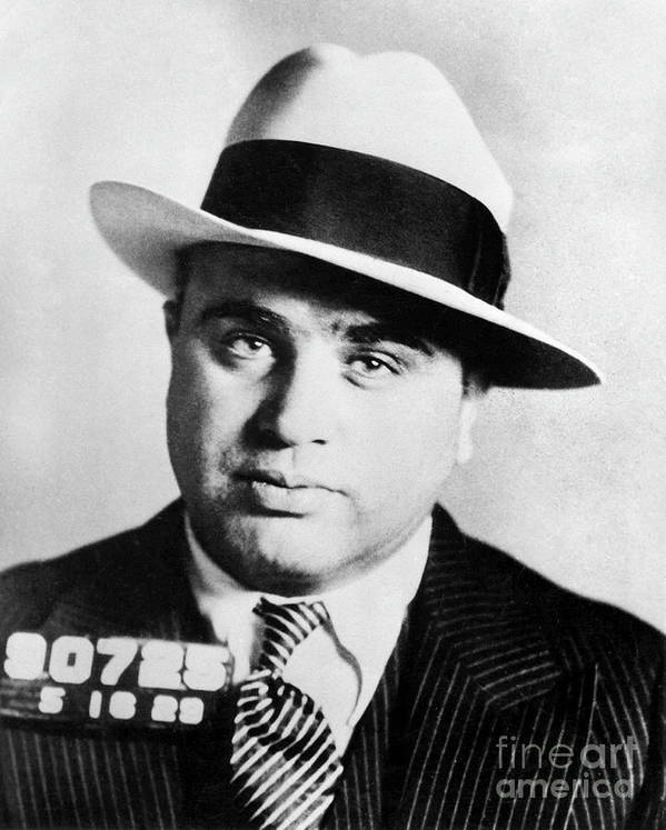 Prohibition Art Print featuring the photograph Al Capone Mugsot by Jon Neidert