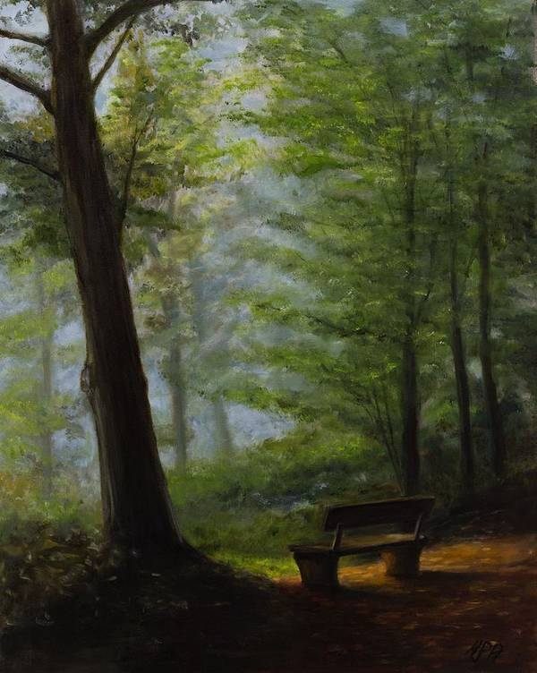 Landscape Art Print featuring the painting Alpha And Omega by Kevin Richard