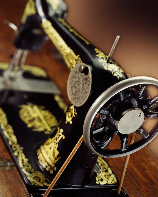 Singer Art Print featuring the photograph Antique Singer Sewing Machine 3 by Kelley King