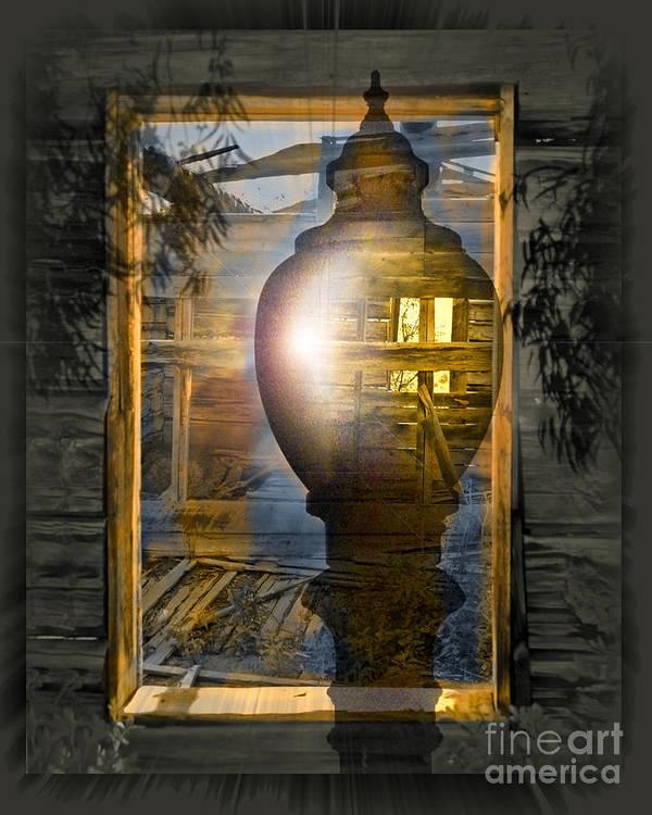 Ghost Art Print featuring the digital art Apparition by Chuck Brittenham