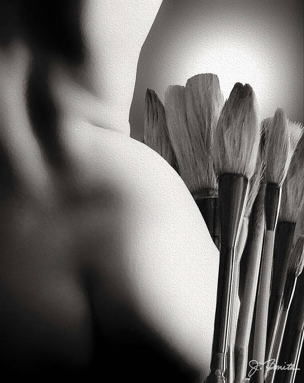 Nude Art Print featuring the photograph Artwork No. 2 by Joe Bonita