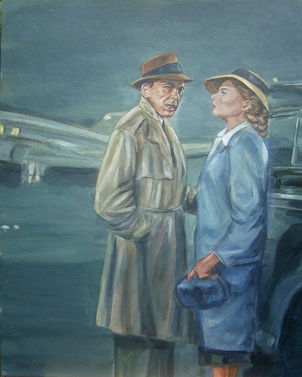 Casablanca Art Print featuring the painting As Time Goes By by Bryan Bustard