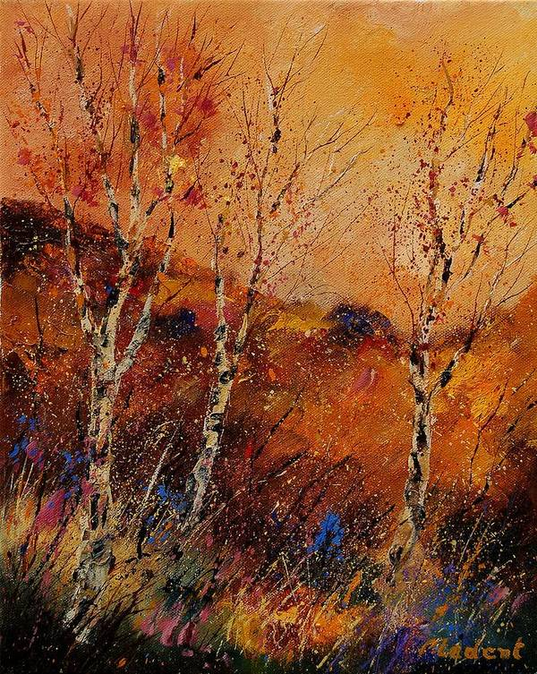 Tree Art Print featuring the painting Autumn Landscape 45 by Pol Ledent