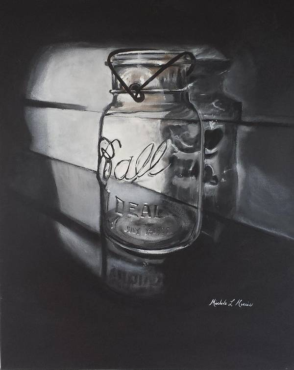 Ball Jar Art Print featuring the painting Ball Of Light by Michele Morris