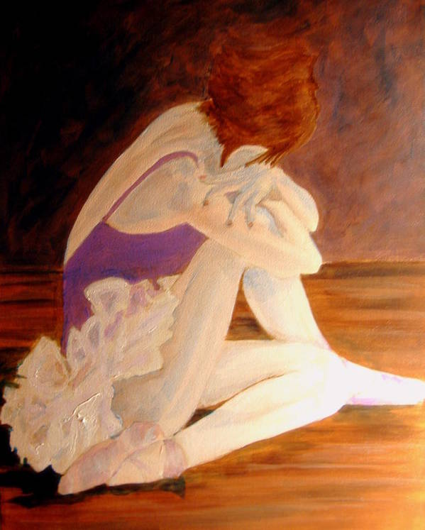 Ballerina Art Print featuring the painting Ballerina04 - Acrylic by Donna Hanna