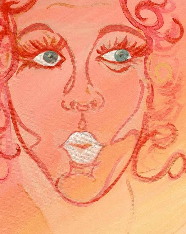 Kiss Art Print featuring the painting Barbara by Robin Antoinette Breeden