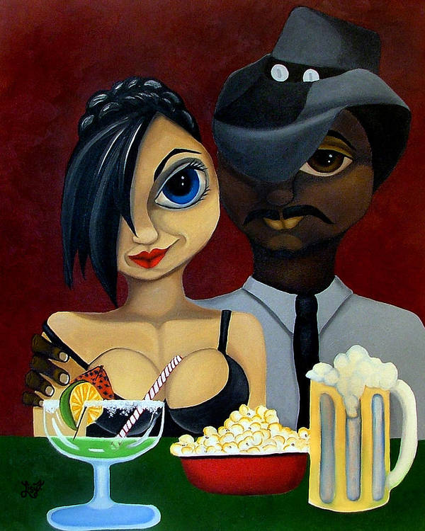 Sweethearts Art Print featuring the painting Be My Valentine by Elizabeth Lisy Figueroa
