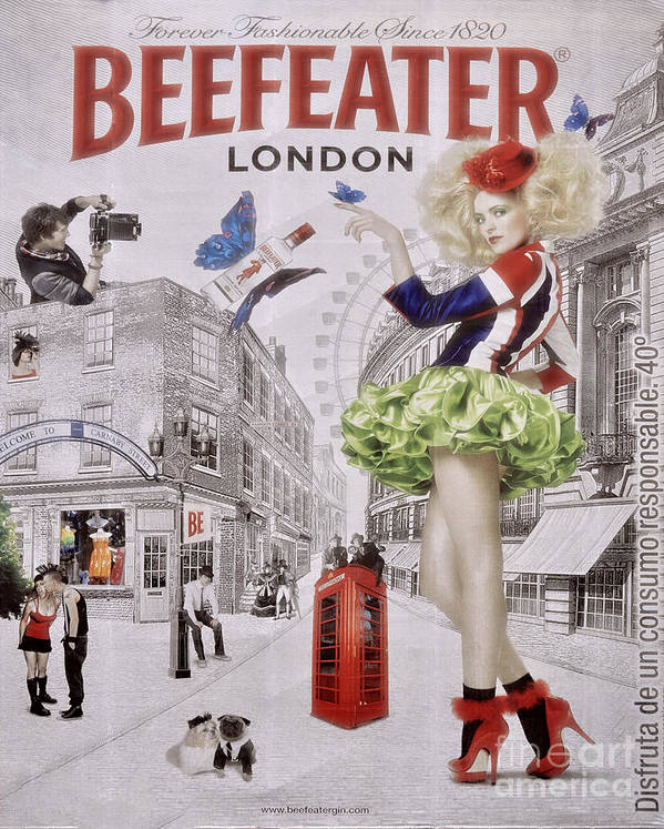 Billboard Art Print featuring the photograph Beefeater Gin by Mary Machare