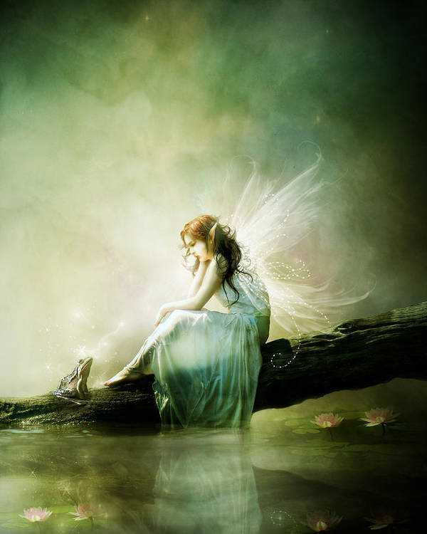 Fairy Art Print featuring the digital art Best Of Friends by Mary Hood