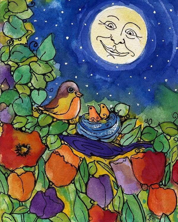 Birds Art Print featuring the painting Bird Retreat by Sylvia Pimental