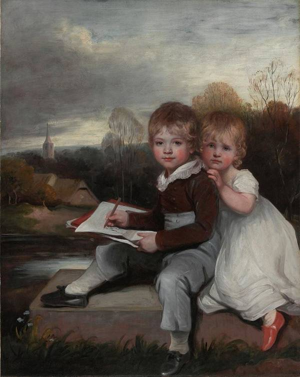 John Hoppner Art Print featuring the painting Bowden Children by MotionAge Designs