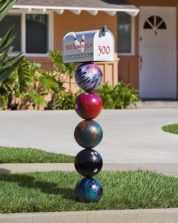 Bowling Art Print featuring the photograph Bowlers Mailbox by Kelley King