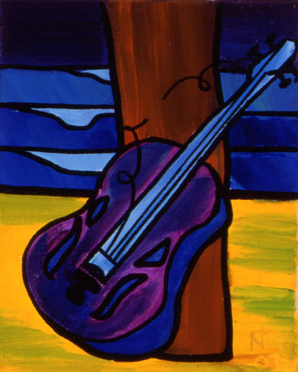 Waves Art Print featuring the painting Broken Strings Broken Dreams by Nathan Paul Gibbs