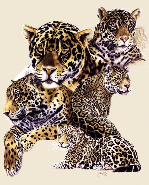 Jaguar Art Print featuring the drawing Burn by Barbara Keith