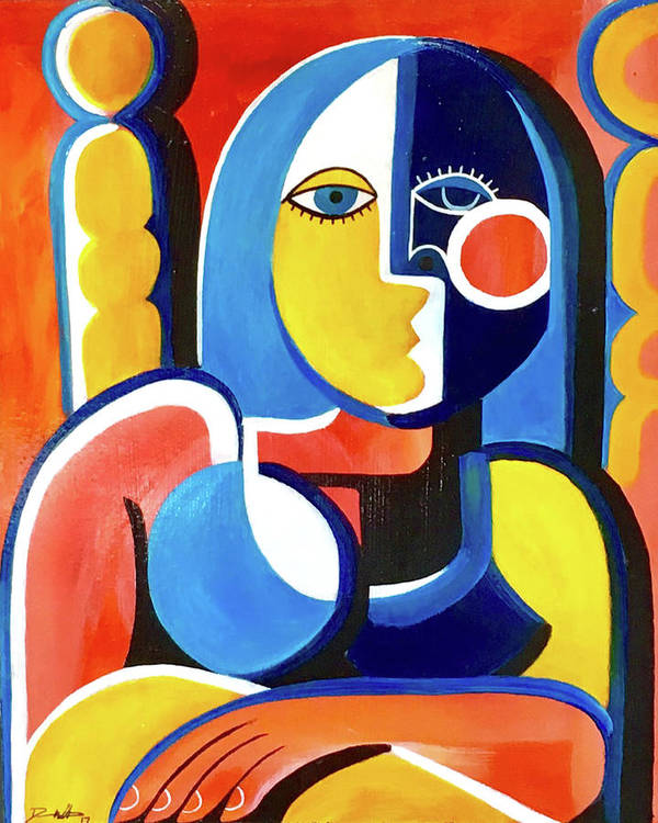 Cubist Art Print featuring the painting Certain by Dennis Wells