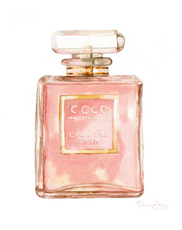 Chanel Perfume Poster Mademoiselle 2 by Del Art