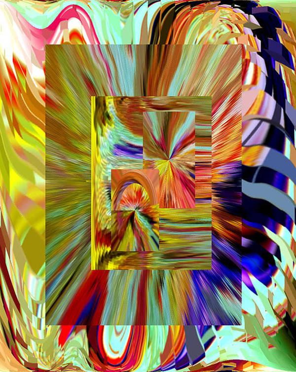 Beverly Kimble Davis Art Print featuring the digital art Colorburst Medal by Beverly Kimble Davis
