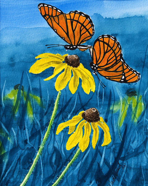 Animals Art Print featuring the painting Colors Of Spring by Wade Clark