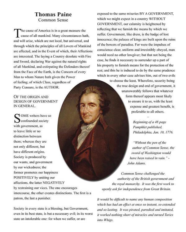 Common Sense Art Print featuring the photograph Common Sense by Jacob Cane