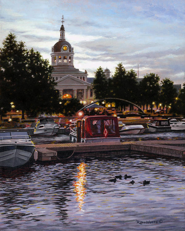 Kingston Art Print featuring the painting Confederation Park by Richard De Wolfe