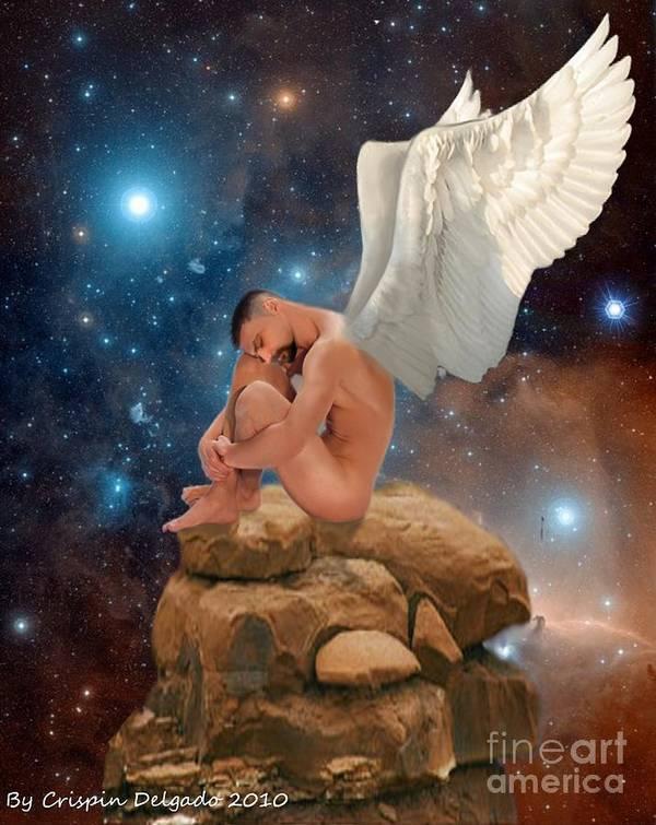 Fairy Art Print featuring the digital art Cosmic Skies by Crispin Delgado