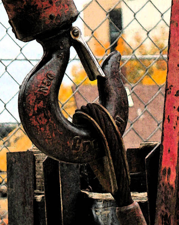Construction Art Print featuring the photograph Crane Hook by Gary Everson