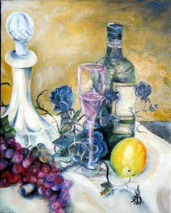 Still Life Art Print featuring the painting Crystal Clear by Amanda Sanford
