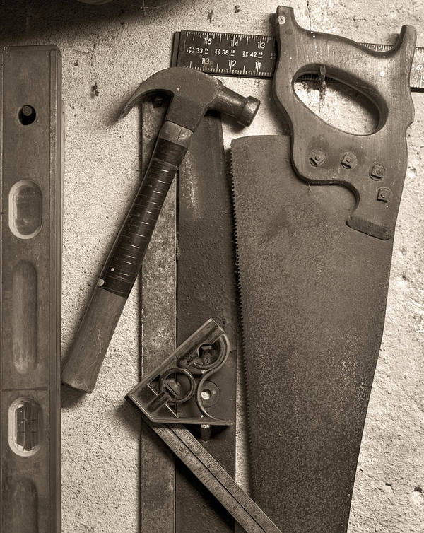 Tools Art Print featuring the photograph Dad's Old Tools by Tony Ramos