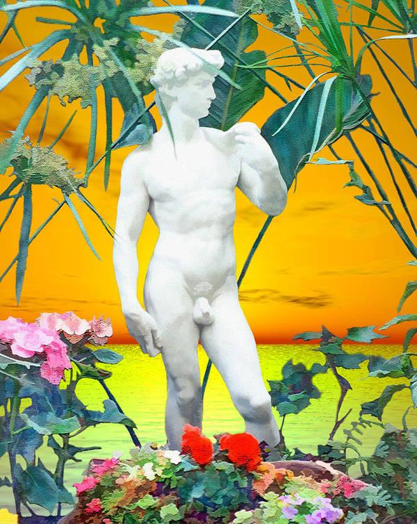 David Print featuring the photograph David by Kurt Van Wagner
