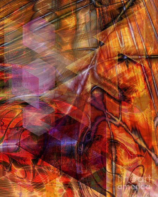 Deguello Sunrise Art Print featuring the digital art Deguello Sunrise by John Beck