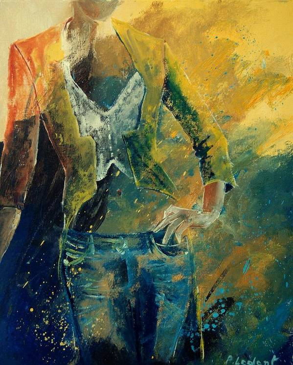 Woman Girl Fashion Art Print featuring the painting Dinner Jacket by Pol Ledent