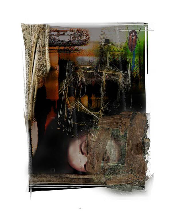 Portrait Art Print featuring the digital art Down by Nuff