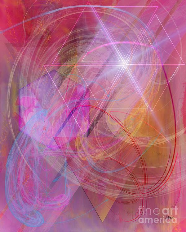 Dragon's Gem Art Print featuring the digital art Dragon's Gem by John Beck
