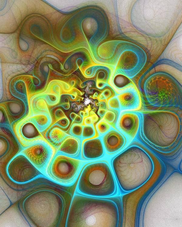 Digital Art Art Print featuring the digital art Dreamscapes by Amanda Moore