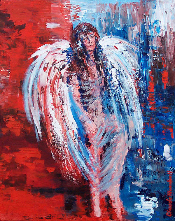 Art Art Print featuring the painting Earth Angel by Claude Marshall