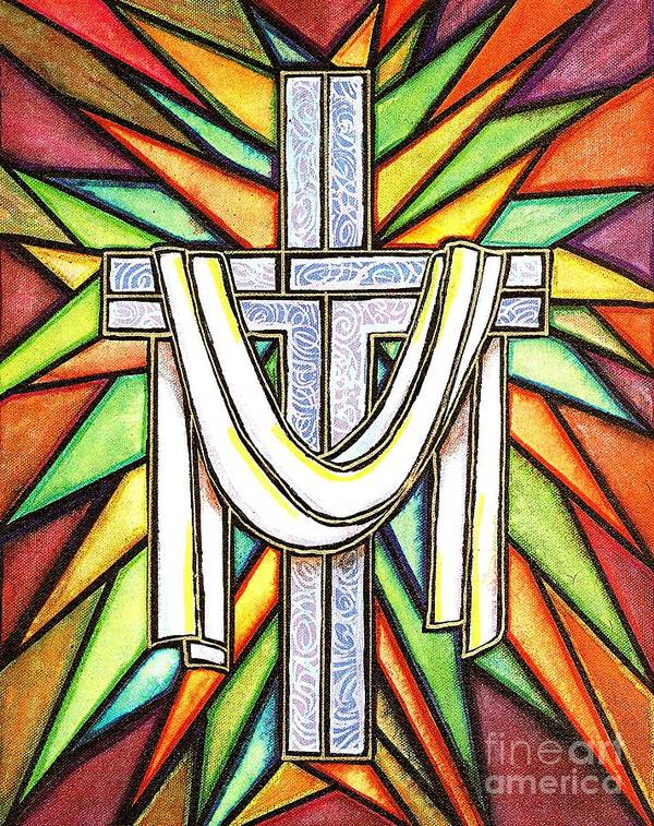 Cross Art Print featuring the painting Easter Cross 5 by Jim Harris