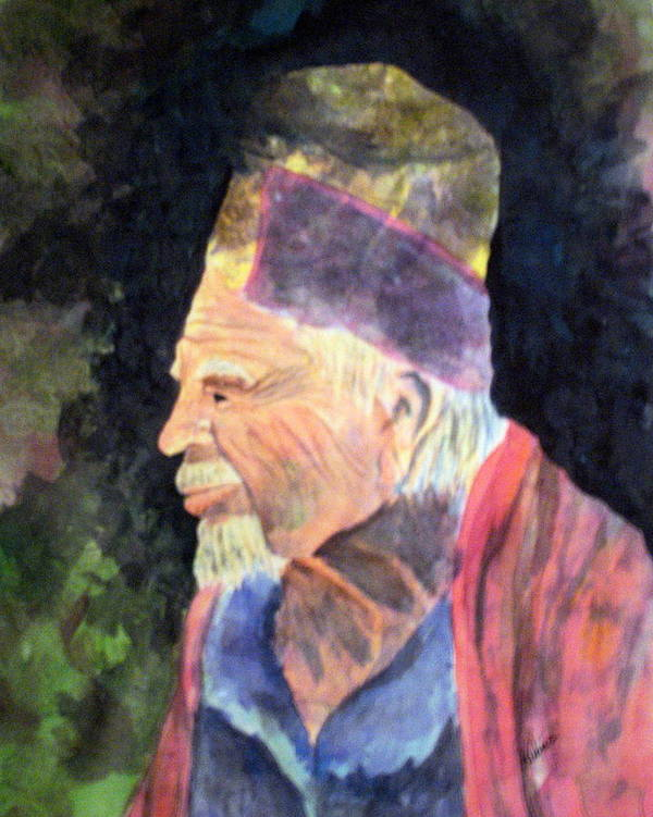 Elder Art Print featuring the painting Elder by Susan Kubes