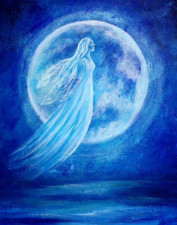 Angel Art Print featuring the painting Elemental Earth Angel Of Water by The Art With A Heart By Charlotte Phillips