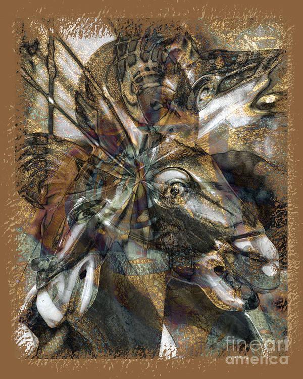 Horse Art Print featuring the digital art Equus by Chuck Brittenham