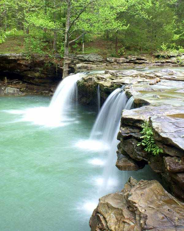 Falling Water Falls Art Print featuring the photograph Falling Water Falls 5 by Marty Koch